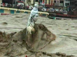shiva-statute-flooded